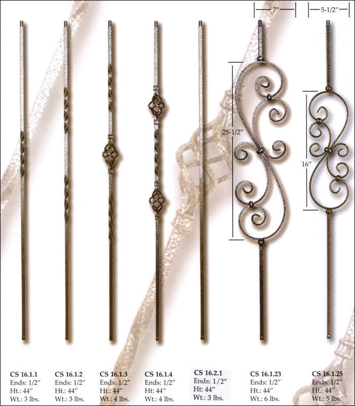 Powder Coated Regular Twist Balusters