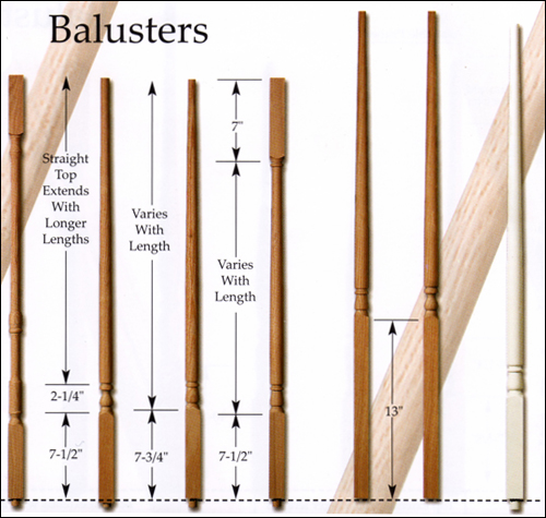 Traditional Balusters