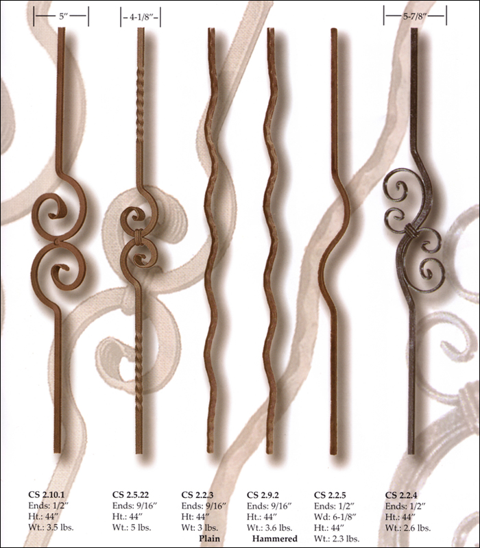 Wave & Curl Forged Balusters